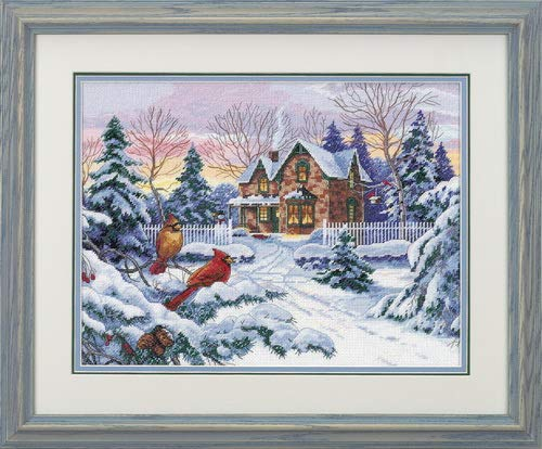Dimensions Gold Collection Winter Memories Counted Cross Stitch Kit: 16x12