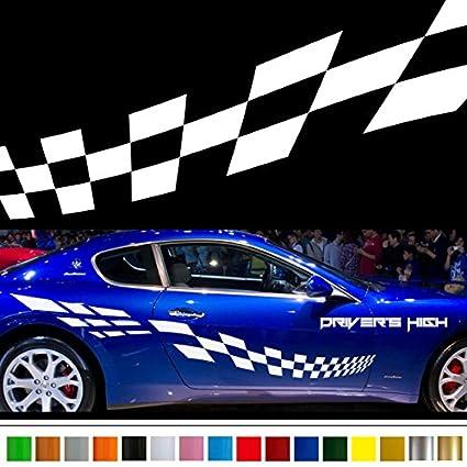 Amazoncom Racing Flag Car Sticker Car Vinyl Side Graphics Wa Car - Car show stickers