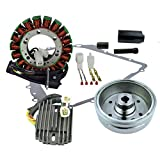Kit Improved Flywheel + Puller + Stator + Regulator Rectifier + Crankcase Cover Gasket For Arctic Cat 400 Auto 2003-2008 OEM Repl.# 3430-054 3430-071 0444-075 0444-254 0802-037 3430-053 3402-682