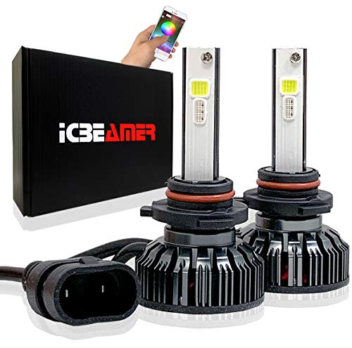 Replace Headlight 2006 Honda Accord - ICBEAMER 9005 HB3 Canbus LED+ RGB Headlight+ Daytime Running Light Replace Halogen Bulbs Control by Smartphone App [Set]