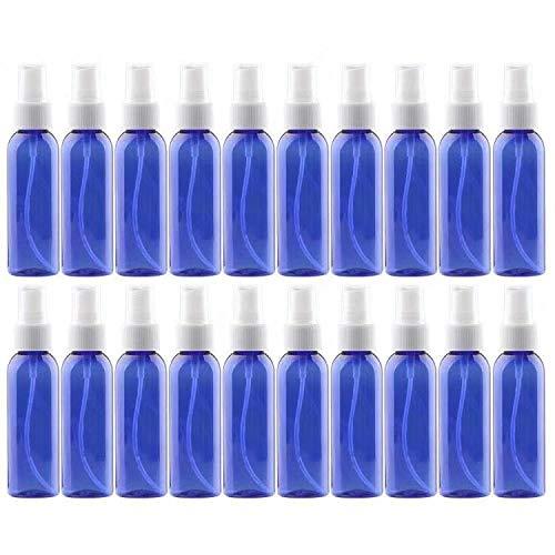 20PCS Spray Bottles 2 Ounces Small Blue Empty Bottles Plastic Mist Spray Bottle For DIY Home PlantsAromatherapy Beauty Care