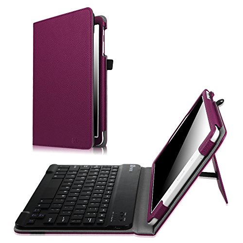 Fintie Keyboard Case for Samsung Galaxy Tab E 9.6 - Slim Fit PU Leather Stand Cover with Premium Quality [All-ABS Hard Material] Removable Wireless [Long Life Battery] Bluetooth Keyboard, Purple (Sexy Galaxy S3 Case)