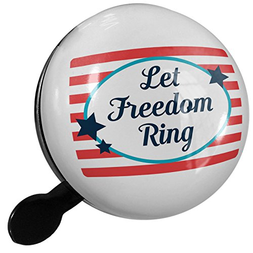 Small Bike Bell Let Freedom Ring Fourth of July America Stars and Stripes - NEONBLOND by NEONBLOND