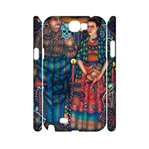 Chinese Frida Art Personalized 3D Cover Case for Samsung Galaxy Note 2 N7100,custom Chinese Frida Art Case