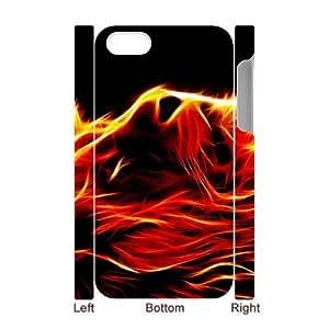 Iphone 4,4S Flame 3D Art Print Design Phone Back Case DIY Hard Shell Protection FG070703