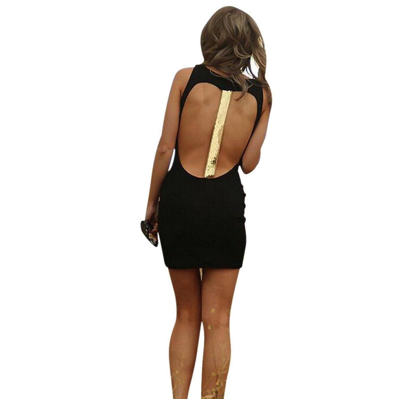 Frauen Kleid,Xinan Frauen-Sommer-Backless Sleeveless Paket Gesäss Kleid