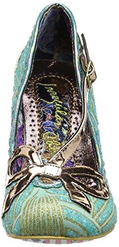 Irregular Choice Bubble, Zapatos de Tacón para Mujer Verde (Mint)