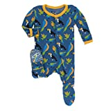 Kickee Pants Little Boys Print Footie With Snaps