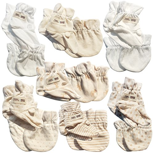 Newborn Baby Mittens and Booties Gift Set (Total :14 Pairs) by Mittens and Booties