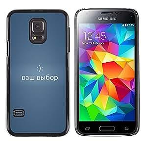 LECELL--Funda protectora / Cubierta / Piel For Samsung Galaxy S5 Mini, SM-G800 -- DIVERTIDO MENSAJE DE RUSIA 2 --