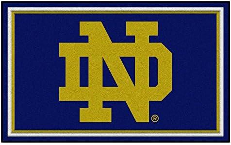 FANMATS NCAA Notre Dame Fighting Irish Nylon Face 4X6 Plush Rug