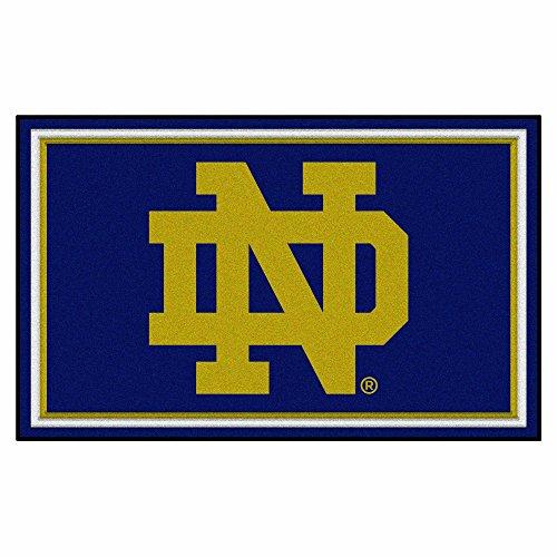 FANMATS NCAA Notre Dame Fighting Irish Nylon Face 4X6 Plush Rug by Fanmats