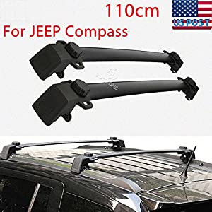 Kayak Jeep Rack Pair Roof Rack Cross Bars Fit 2011 2014 Jeep Compass  Luggage Ski Kayak Carrier