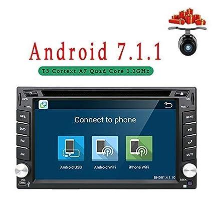 Actualización Versión WIFI Modelo Android 6.0 Qure Core Doble Din Car dvd Player Stereo GPS Navegación