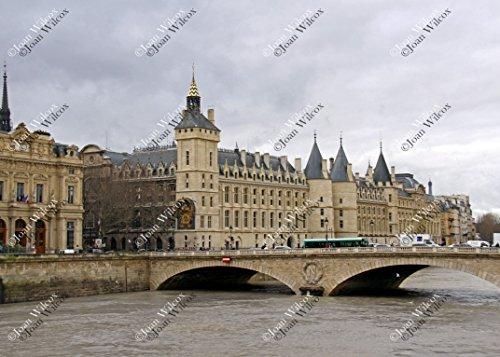 Grand Victorian Cake (The Conciergerie on the River Seine Paris France Law Courts Palace Architecture Original Fine Art Photography Wall Art Photo Print)