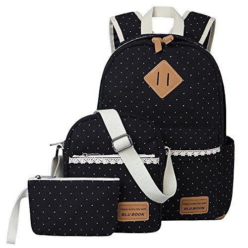Canvas Students Backpack Casual Bookbag