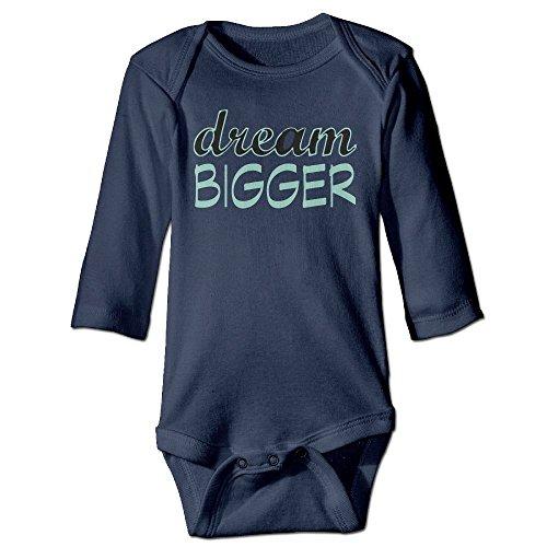 Richard Unisex Newborn Bodysuits Dream Bigger Girls Babysuit Long Sleeve Jumpsuit Sunsuit Outfit 6 M - Cumming Pictures Women