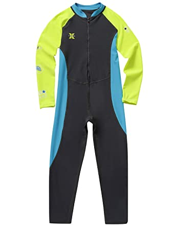 030d9786ac Gogokids Kids Long Sleeves Swimsuit - Boys Girls One Piece Sunsuit  All-in-One Swimwear UV 50+ Sun Protection for Water Sports: Amazon.co.uk:  Clothing
