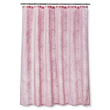 Amazon Threshold Floral Burnout Shower Curtain