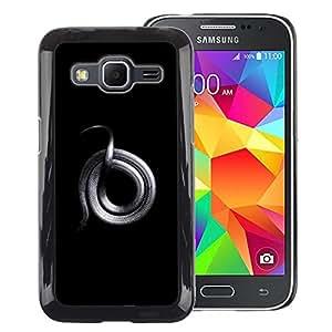 Red-Dwarf Colour Printing Grey Dragon Snake Rock Platinum Silver - cáscara Funda Case Caso de plástico para Samsung Galaxy Core Prime SM-G360