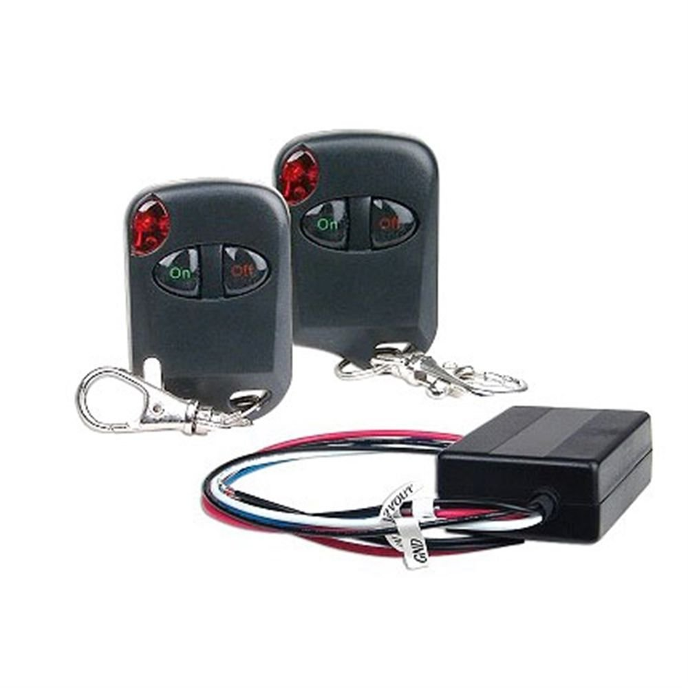 Logisys RM02 12V 15AMP Relay Kit with Two Remote Controls by Genssi