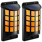 nice covered patio design ideas pictures TomCare Solar Lights Waterproof Flickering Flames Wall Lights Outdoor Dark Sensor Auto On/Off Solar Powered Wall Mounted Night Lights Lattice Design Garden Pathway Door Patio Deck Yard Driveway(2)