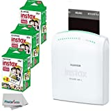 Fujifilm Instax Share SP-1 Smartphone Portable Printer With Fujifilm Instax Mini Instant Film, 60 Sheets, International Version (No Warranty)