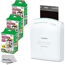 Fujifilm Instax Share SP-1 Smartphone Portable Printer With Fujifilm Instax Mini Instant Film, 60 Sheets, International Version (No Warranty)