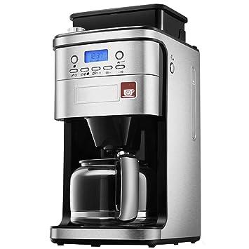 Frijol automático de la máquina de café a la taza Volumen del tanque de agua de 1,5 litros (plata): Amazon.es: Hogar
