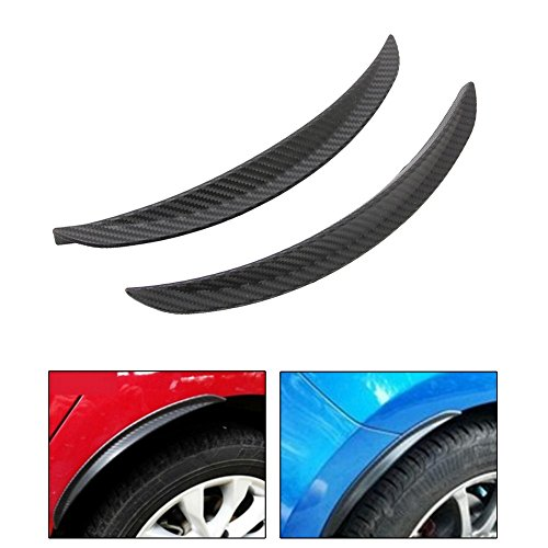 Fiber Body Kit - 2X Carbon Fiber Style Fender Flare Wheel Lip Body Kit Universal For Car Truck