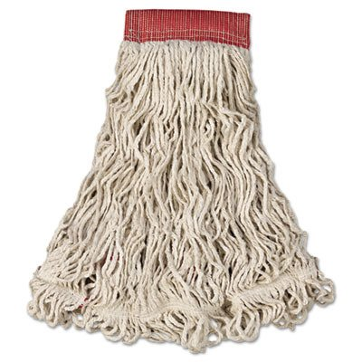 RCPC153WHI Swinger Loop Wet Mop Heads, Cotton/Synthetic, White, Large
