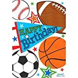 football loot bags - Amscan Sports Superstar Birthday Party Loot Bags, Pack of 8, Multi, 8 3/4