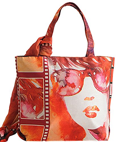 Multipurpose Yuga Handbags Multicolour With Printed Bags 11 Women X Fashion 16 Scarf Inches Trendy Shopping Digital 4rq4wzxBf