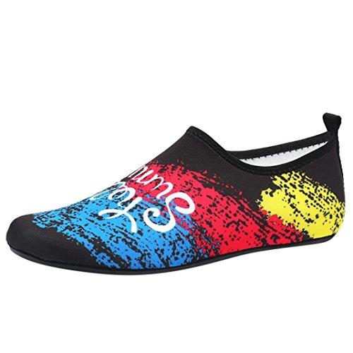 Calcetines Zapatos Natación Parejas OHQ Natación Multicolor Mujeres Bastante Zapatos Buceo Sandalias Planos Verano Snorkel Casuales Zapatos Yoga Playa Moda RRxzq4S