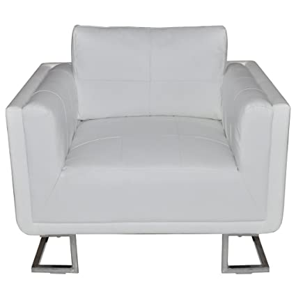 Festnight Modern Single Sofa Arm Chair Tub Barrel Club Seat Chair Artificial Leather Cube Living Room  sc 1 st  Amazon.com : leather cube chair - Cheerinfomania.Com