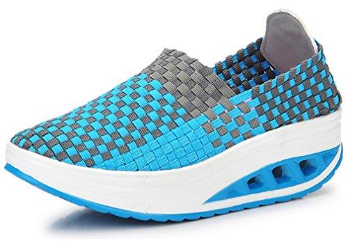 NEWZCERS Bleu Chaussures femme d'athlétisme pour B4Bqr6