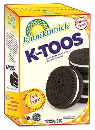 Kinnikinnick, KinniTOOS Chocolate Sandwich Cream Cookies, 8 oz. ()