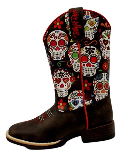 Price comparison product image Blazin Roxx Girl's Destiny Square Toe Boots, Brown Man Made, 13 Little Kid M