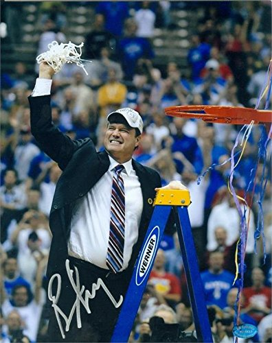 Kansas Jayhawks Coaches - Bill Self autographed 8x10 Photo (Kansas Jayhawks Coach) Image #SC1