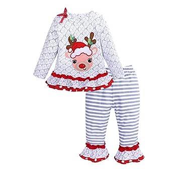 LPATTERN 2pcs Traje de Navidad para Niña Pijamas de Encaje ...