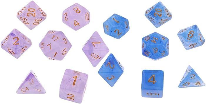 B Blesiya 14 Unidades Cubos de Dados Poliédricos para Juego de Mesa: Amazon.es: Juguetes y juegos