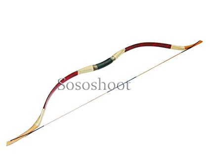 Buffalo Hunting Bow and Arrow Handmade Recurve Horsebow Longbow for Adults  with Free Gift-Exclusively Sold By Sososhoot