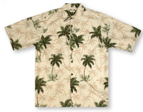 Go Hawaiian Barefoot Shirt (Go Barefoot Coconut Trees- Sand Hawaiian Shirt)