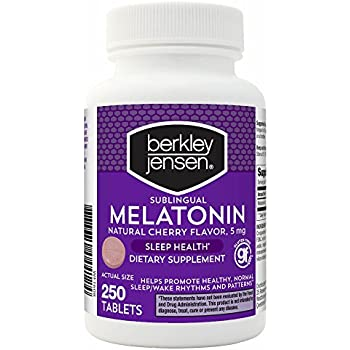 Berkley Jensen 5mg Melatonin Sleep Health, 250 ct.
