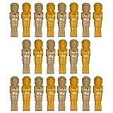 Set of 22 Foosball Players Tan / Yellow Old Style Men