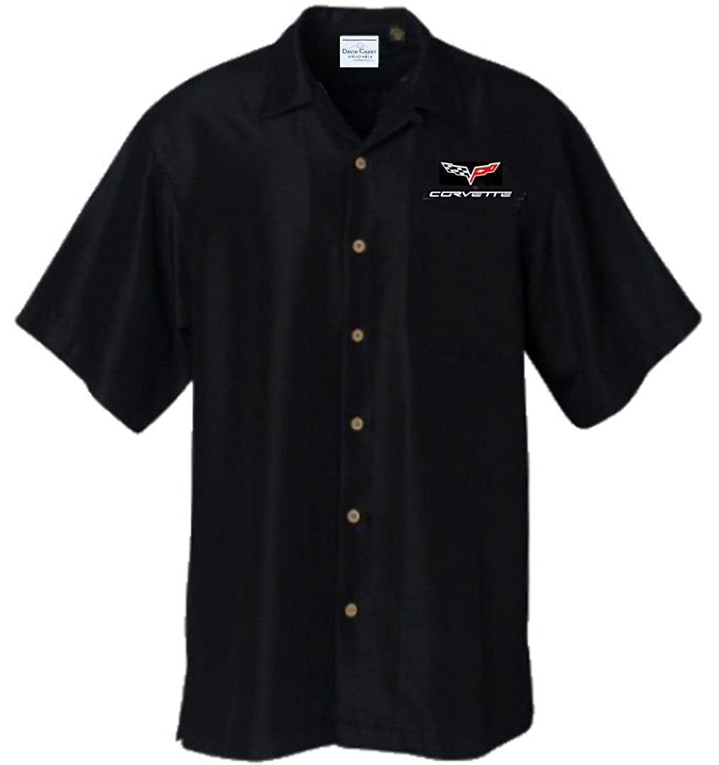 Corvette C6 Logo Chevy Car Camp Hawaiian Club Shirt by David Carey