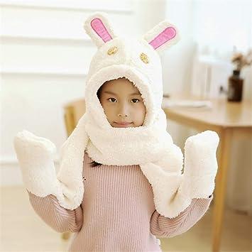 00b50205d Unisex para niños Suave Invierno cálido Bufanda con Capucha Pañuelo de Cuello  Cuello con Capucha Sombrero Padre-Hijo (Color   H