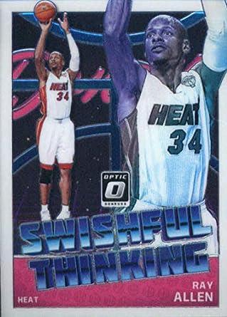 156249a3afd 2018-19 Donruss Optic Swishful Thinking #5 Ray Allen Miami Heat Official  NBA Basketball