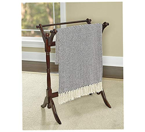 (Wood & Style Furniture Heirloom Cherry Blanket Rack Home Office Commerial Heavy Duty Strong Décor)