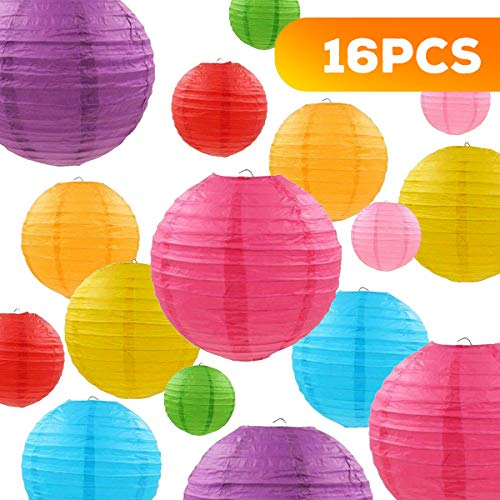 HOMGIF Paper Lanterns - 16 Packs for Size